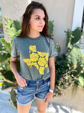 Load image into Gallery viewer, Yellow Rose Burnout Tee
