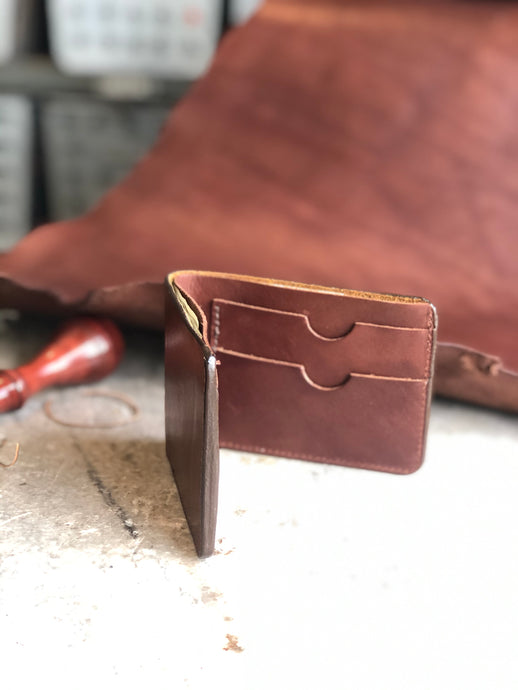 Plain Brown Bifold Wallet