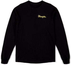 Wrangler Black Neon Sign Logo Graphic Long Sleeve T-Shirt