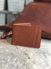 Load image into Gallery viewer, Plain Brown Bifold Wallet