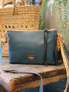 Teeny Crossbody- Adelita Navy