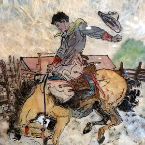 Cowboy Mixed Media Art