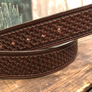 "36"" Basket Stamp Tooled Belt"