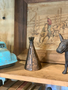 Vintage Tepee Piggy Bank