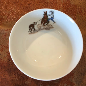 Vintage tie down roper dishes