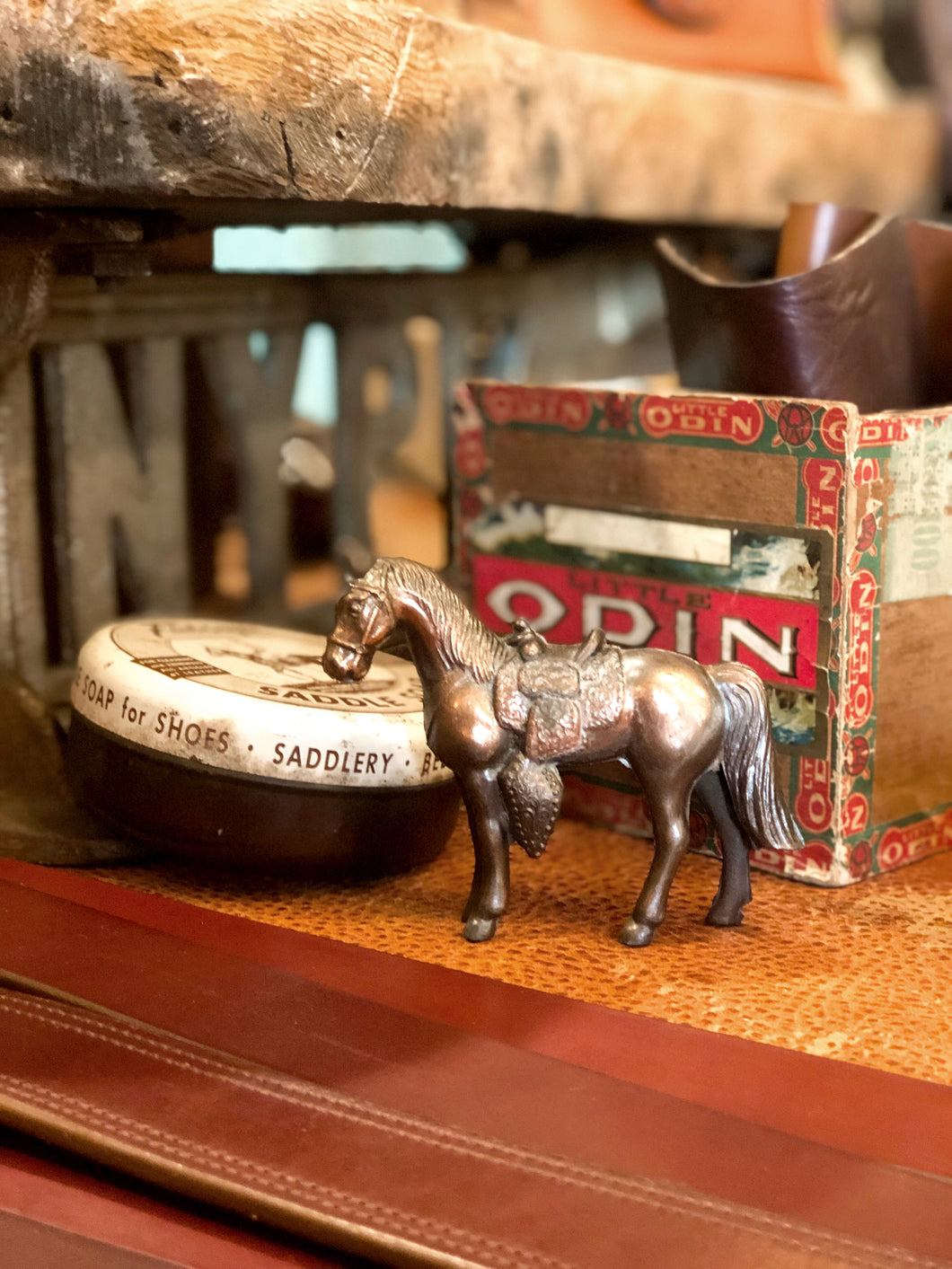 Brass decorative horse