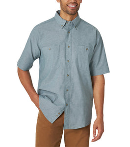 Wrangler RW Short Sleeve Mallard Green Button Down