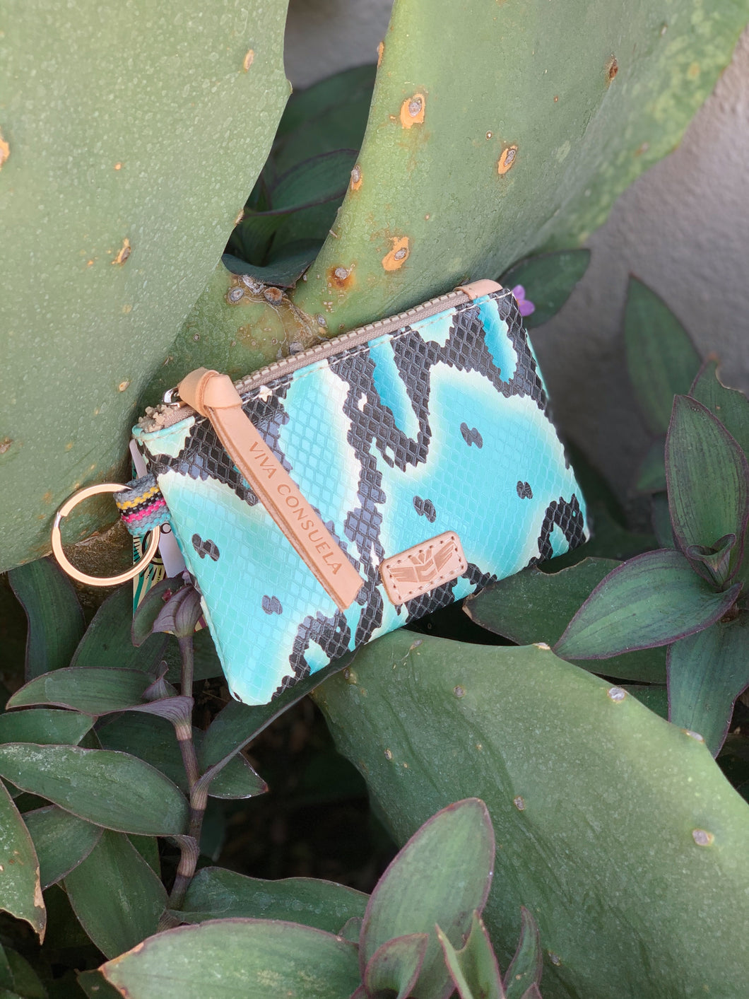 Teeny Pouch- Carmen Turquoise Snake