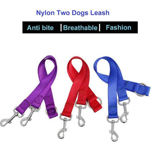 Twin Dual Coupler Two Way Walking Lead Leash-10.99-Twin Dual Coupler Dog Leash, Two Way Dog Walking Lead