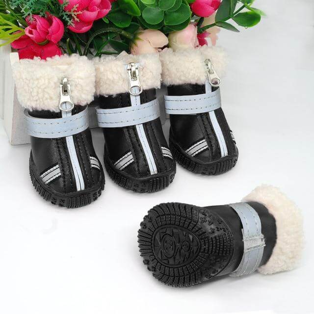 Winter Pet Dog Shoes - 22.98 - Dogs Cotton Non Slip Boots, Dog Shoes Warm Snow Boots