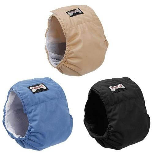 Washable Male Dog Belly Band Wrap Waterproof