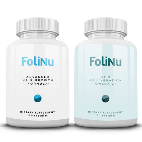 FoliNu Advanced Hair Growth Formula &  FoliNu Hair Rejuvenation Omega 3s