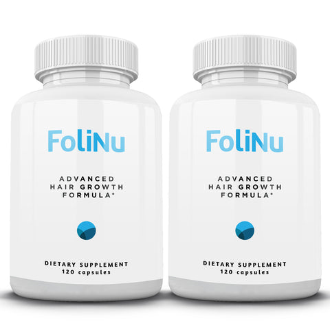 FoliNu Advanced Hair Growth Formula - 2 Bottles