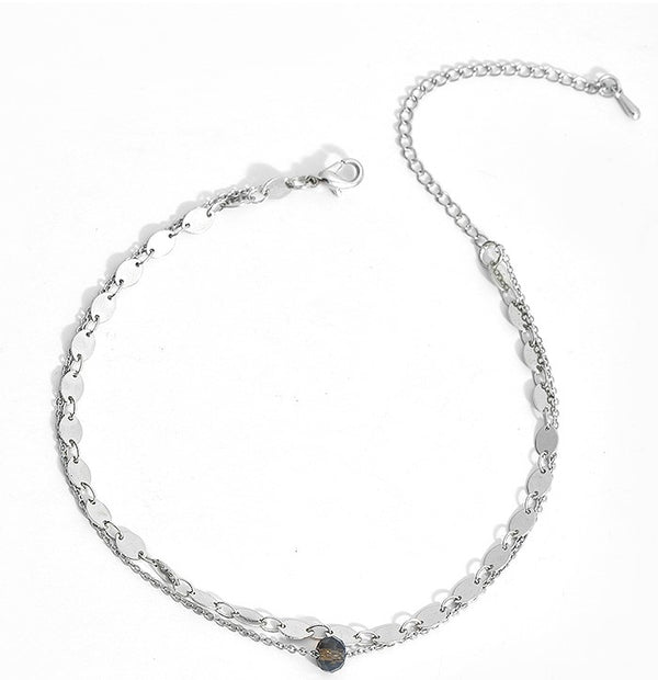 2 Layer Single Bead Beach Anklet