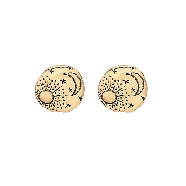 Moon & Sun Stud Earrings