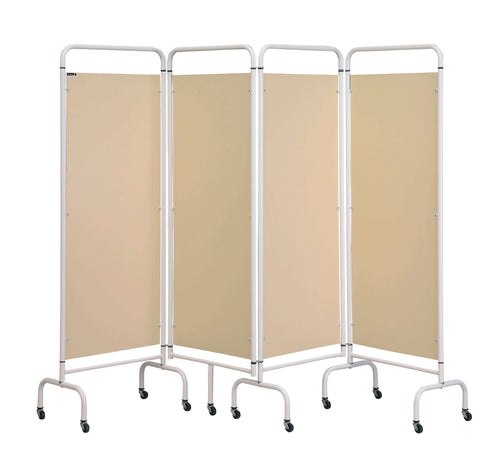 4 Panel Mobile Folding Hospital Ward Screen
