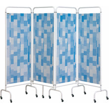Load image into Gallery viewer, 4 Panel Mobile Folding Hospital Ward Screen