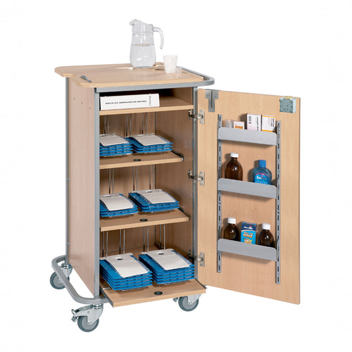 Monitored Dosage System Trolley - Small, 6 Racks