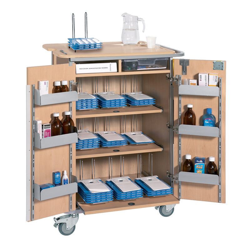 Monitored Dosage System Trolley - Large, 9 Racks