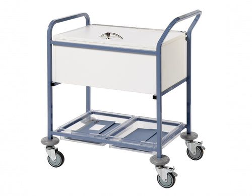 Records Transfer Trolley - With Folding Locking Top