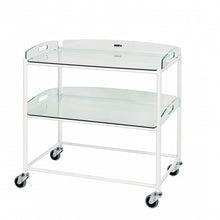 Load image into Gallery viewer, Dressing Trolley, 2 Glass Effect Safety Trays