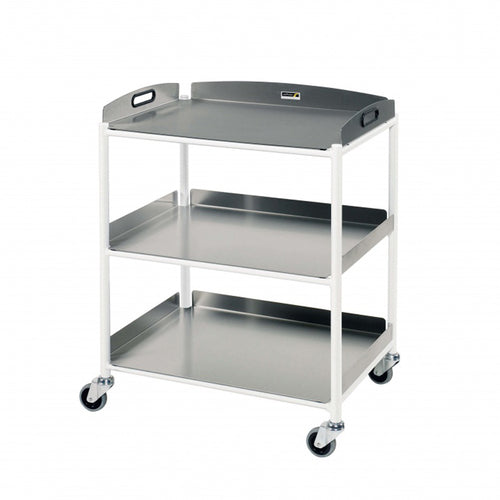 Dressing Trolley, 3 Stainless Steel Trays