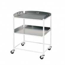 Load image into Gallery viewer, Dressing Trolley, 2 Stainless Steel Trays