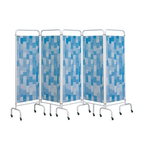 5 Panel Mobile Folding Hospital Ward Screen