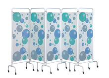 Load image into Gallery viewer, 5 Panel Mobile Folding Hospital Ward Screen