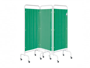3 Panel Mobile Folding Curtained Screen