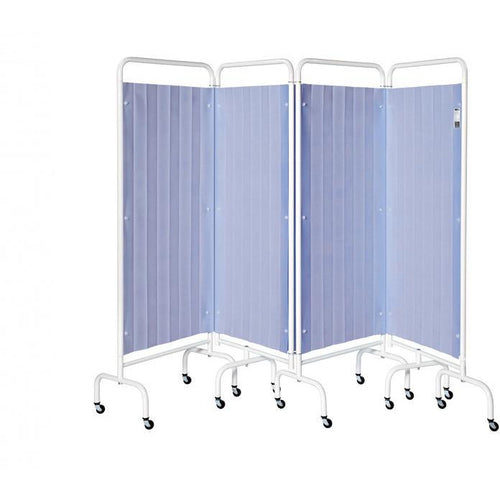 4 Panel Mobile Folding Curtained Screen