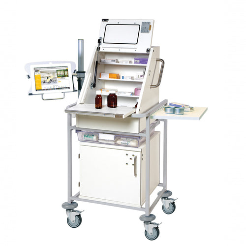 Ward Drug & Medicine Dispensing Trolley for iPad/Tablet