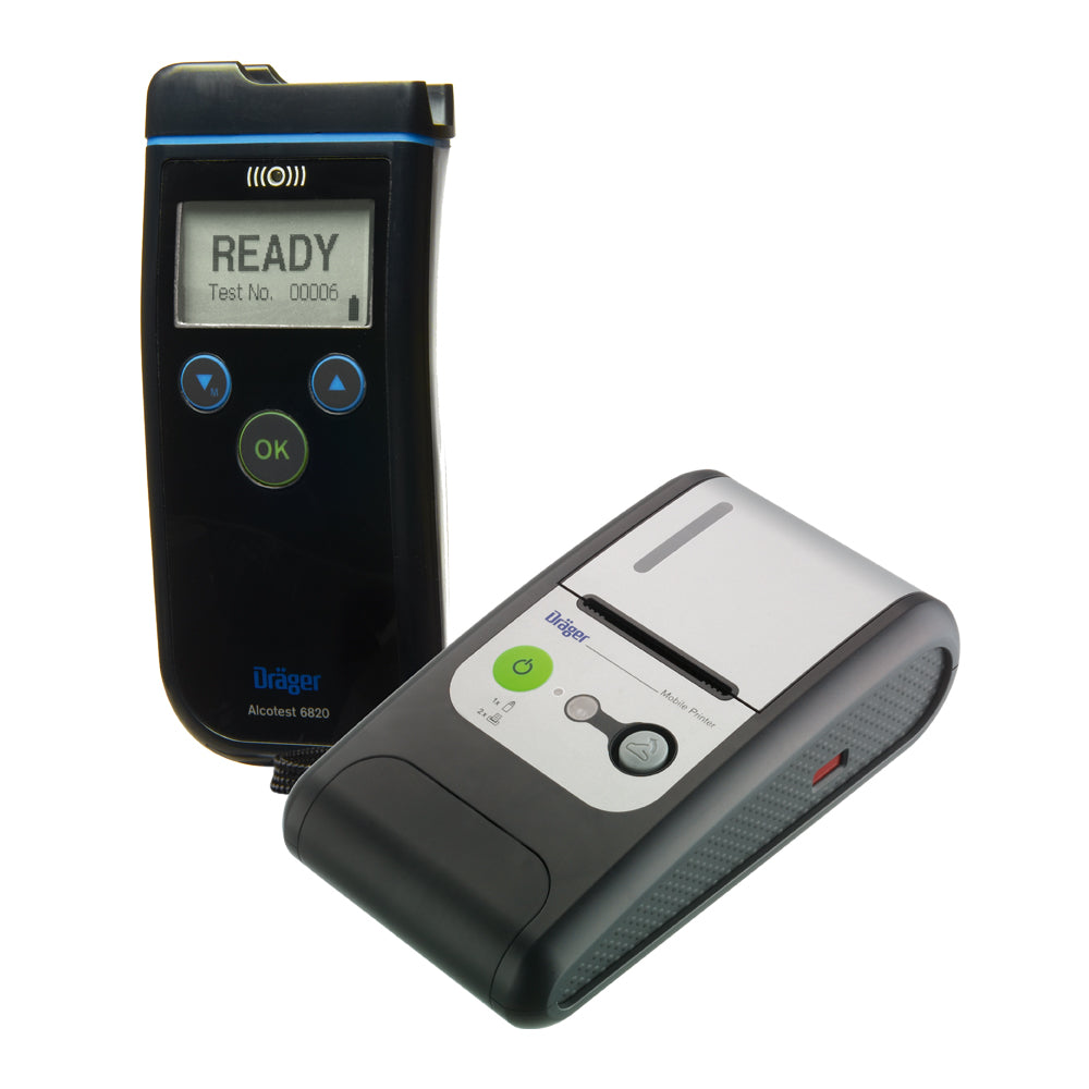 Dräger Alcotest 6820 Breathalyzer System Kit with Printer and Mouthpieces