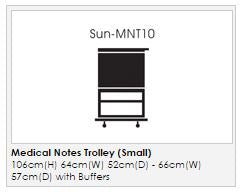 Medical Notes Trolley (Small) - Enclosed sides with hinged top and 1 Digital Combination Lock