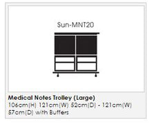 Load image into Gallery viewer, Medical Notes Trolley (Large) - Enclosed Sides with Hinged Top and 2 Digital Combination Locks