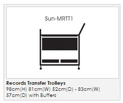 Records Transfer Trolley - Open