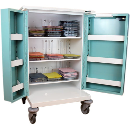 Double Door Medicine Drugs Trolley