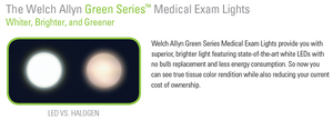 Welch Allyn GS300 Green Series LED Exam Light - Mobile Stand