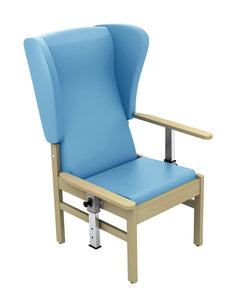 Atlas Patient High Back Arm Chair with Wings and Drop Arms