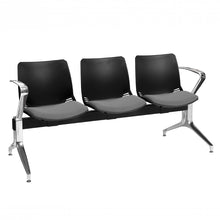 Load image into Gallery viewer, Neptune Visitor 3 Seat Module with 3 Grey Intervene Material Upholstered Seat Pads