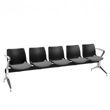 Load image into Gallery viewer, Neptune Visitor 5 Seat Module with 5 Grey Vinyl Upholstered Seat Pads