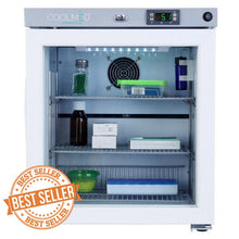 Load image into Gallery viewer, Coolmed Glass Door Small Medical, Pharmacy, Vaccine Refrigerator CMG29