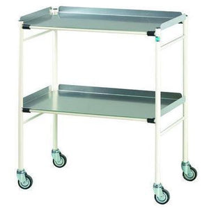 Doherty Halifax Dressing Trolley 76.5cm x 46cm steel frame.