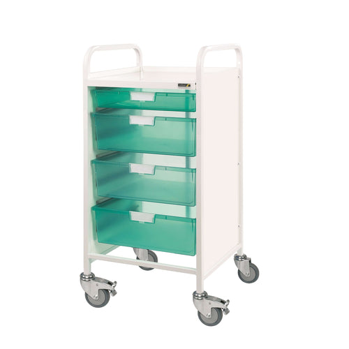 VISTA 55 Trolley - 1 Single & 3 Double Depth Trays