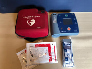 Reconditioned Philips Heartstart FR2 (Unit + x2 Sets of PADS + Battery & Carry Case)