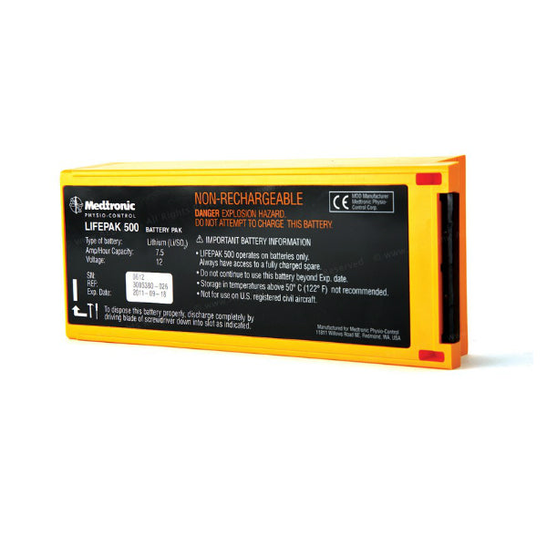 Physio Control Lifepak 500 AED Non-Rechargeable Lithium Battery