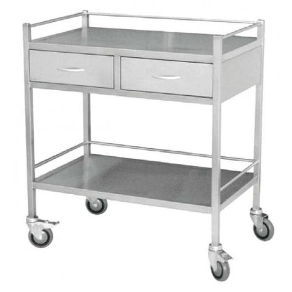 Medical Trolley Large with 2 drawer