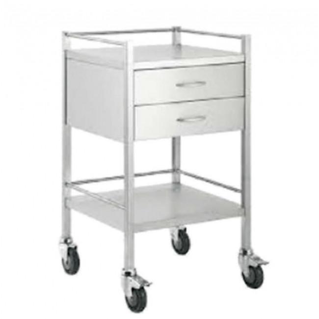 Medical Trolley Small with 2 drawer