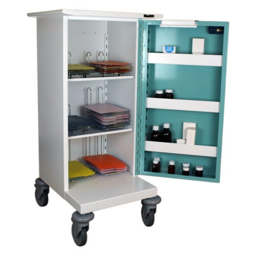Single Door Medicine Drugs Trolley