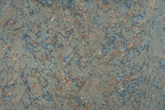 French Marble Veined Moss Green, Blue, Tan